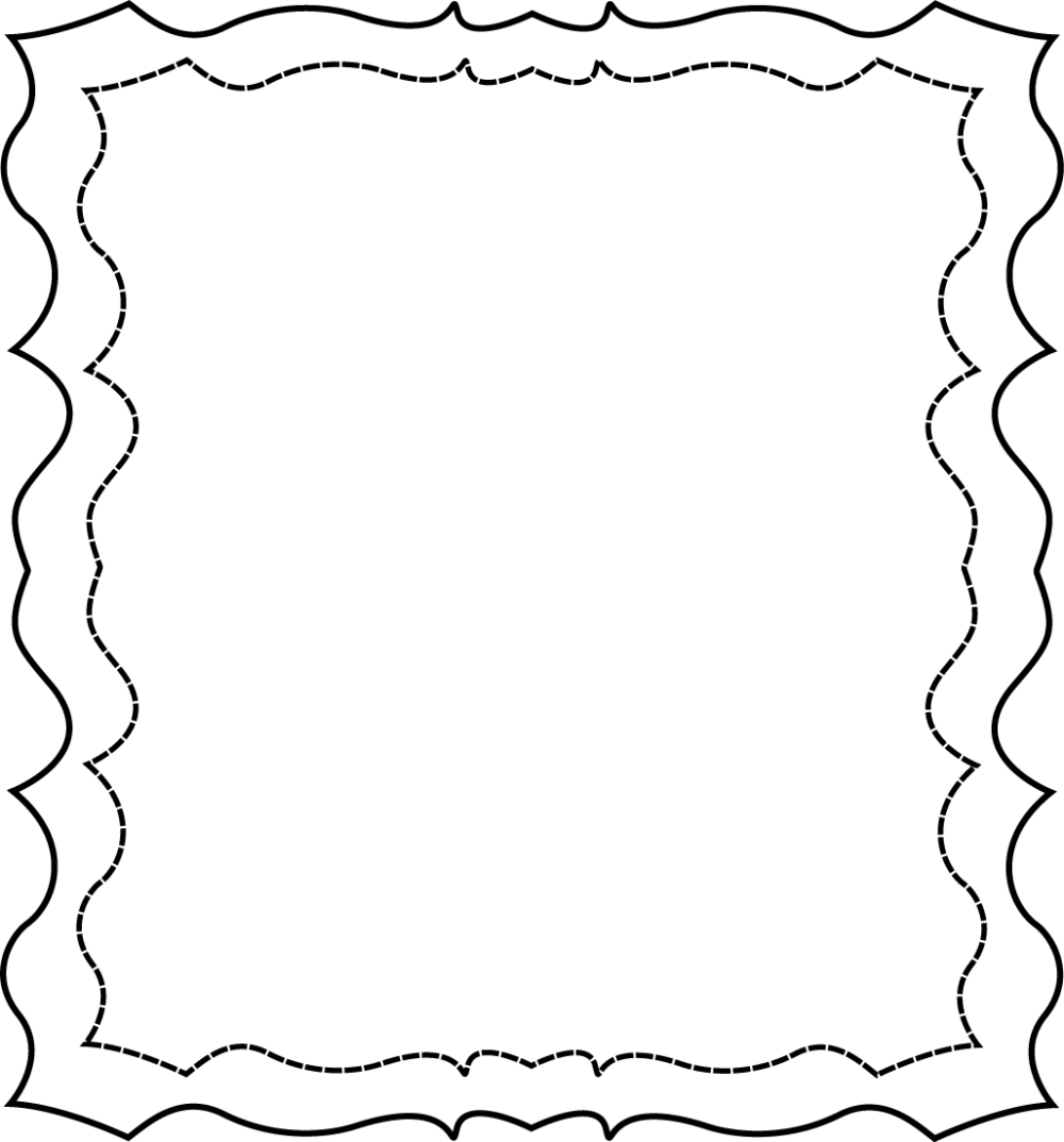 medium resolution of full page squiggly frame