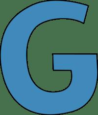 Blue Alphabet Letter G Clip Art - Blue Alphabet Letter G Image