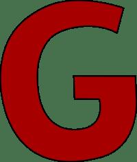 Red Letter G Clip Art - Red Letter G Image