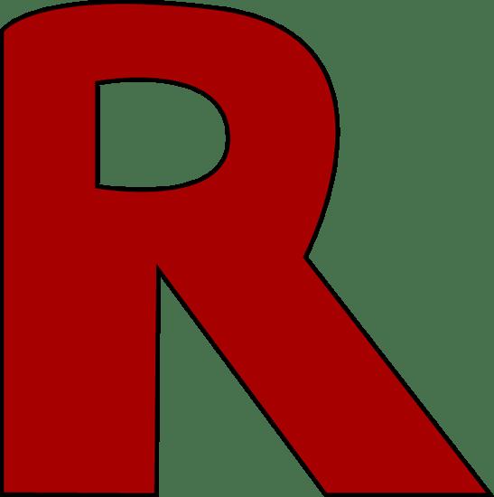 Red Letter R Clip Art  Red Letter R Image