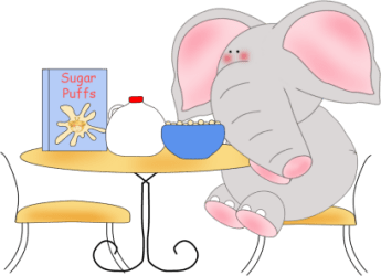eating elephant breakfast clip animal sitting table any transparent eat graphics english minutes mom single living exercises mycutegraphics