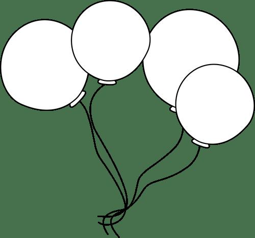 black and white balloons clip art