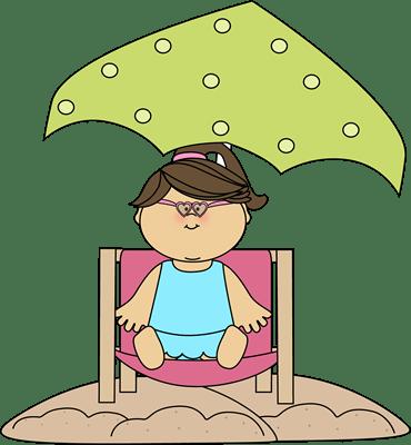 beach chair and umbrella clipart wheelchair hs code girl sitting in a under an clip art