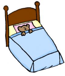 Cute Cartoon Bed Clipart