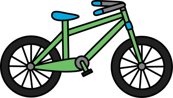 green bicycle clip art