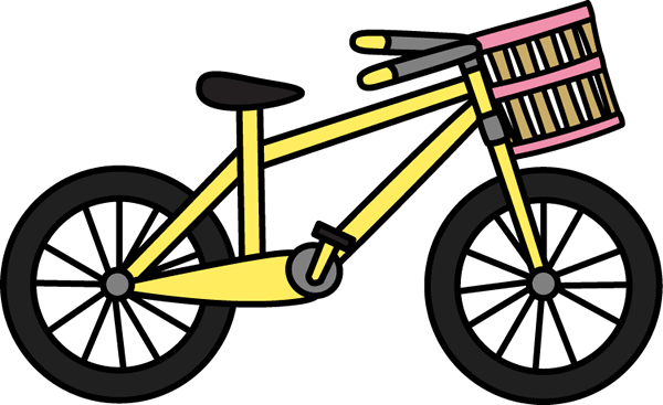 bicycle with basket clip art