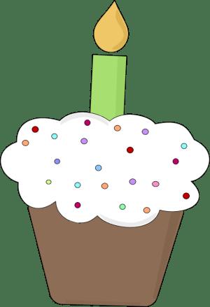 fun birthday cupcake clip art