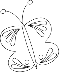 butterfly mycutegraphics clip graphics garden outline summer dreaming coloring pages spring