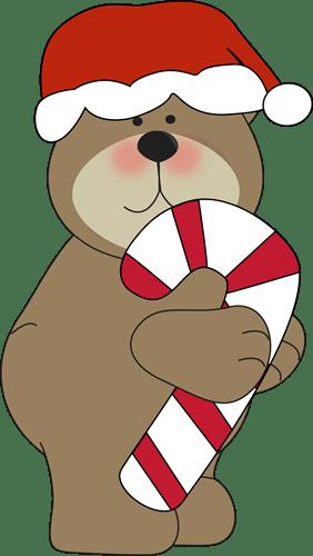 christmas brown bear clip art
