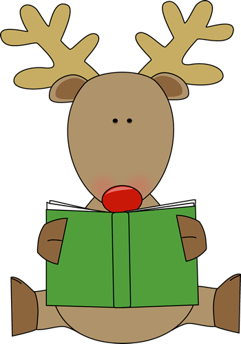 Reindeer Reading a Book