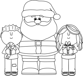 santa clip christmas clipart claus children outline mycutegraphics kid graphics cute library clause category cliparts