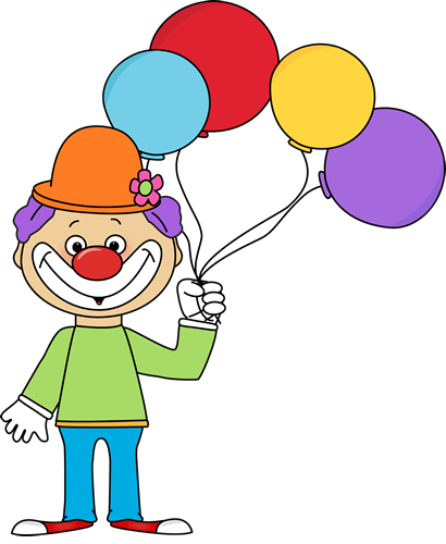 clown with balloons clip art