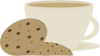coffee and cookies clip art