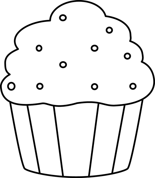 black and white cupcake with sprinkles