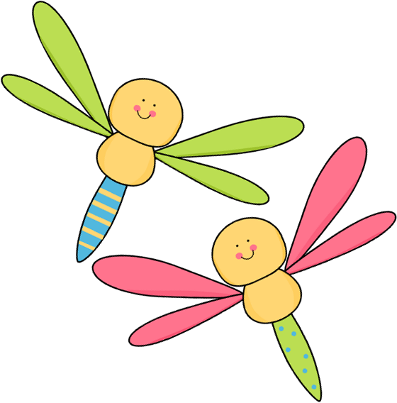 two dragonflies clip art