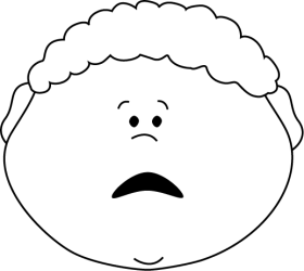 scared boy clip face outline emotions