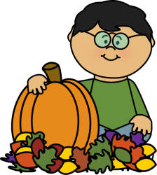 fall pumpkin leaves clipart clip boy sitting leaf playing mycutegraphics halloween graphics cliparts pumpkins preschool clipground drawings