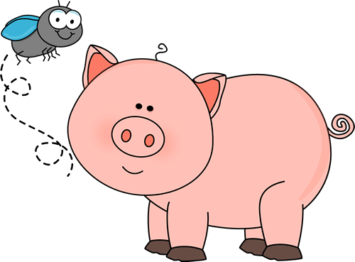fly and pig clip art