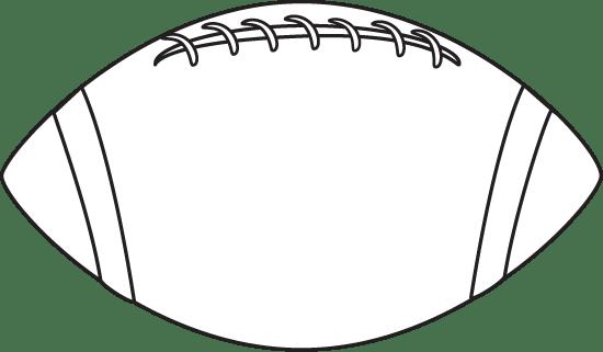 black and white football clip art