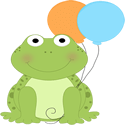 Frog with Balloons