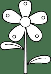Black and White Garden Flower Clip Art Black and White Garden Flower Image