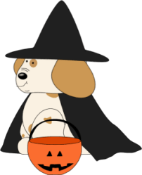 halloween cute clipart puppy clip dog graphics cliparts october pets pup pumpkin transparent witch orange face coloring clipartpanda 20clipart clipground