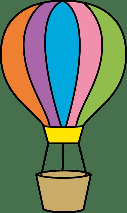 colorful hot air balloon clip art