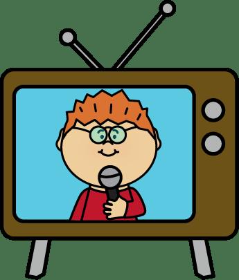 News Reporter on TV