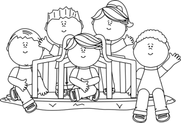clipart children clip round go merry graphics cliparts outline church friends mycutegraphics today waving library graphic august sitting cedonia community