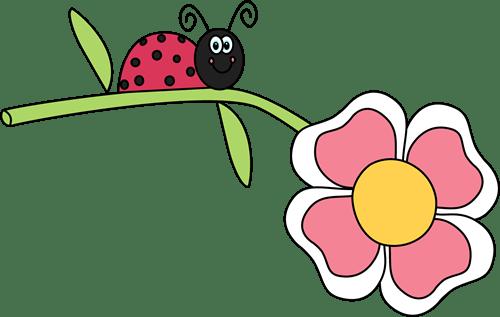 ladybug flower clip art