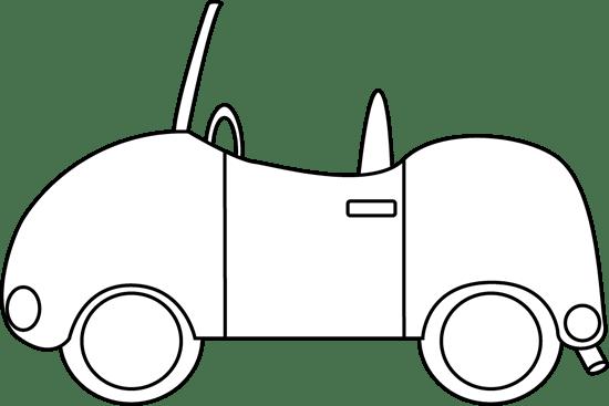 black and white car clip art