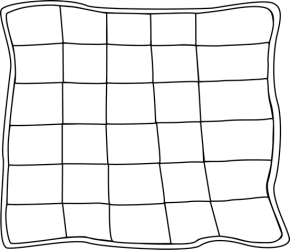Quilt Clipart Black And White Png