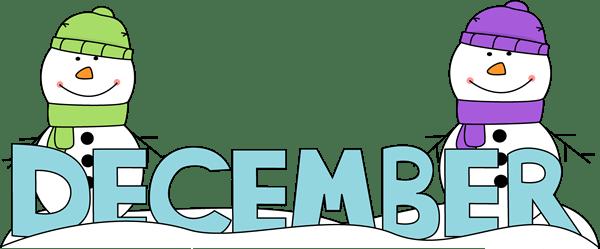 month of december snowmen clip