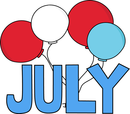 red white and blue july clip art