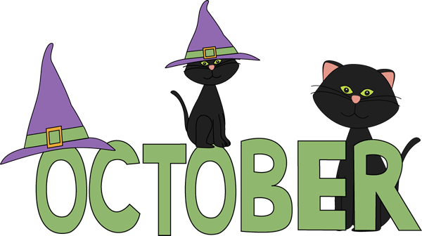 october black cats clip art