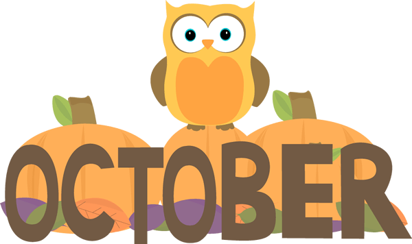 month of october owl clip art