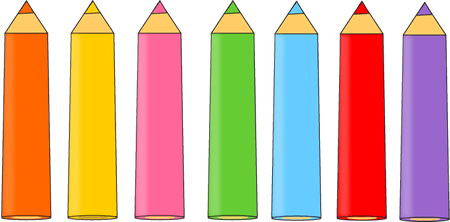 pencil clip art - kids