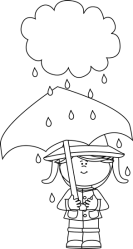 rain clip clipart weather under rainy cloud coloring clouds umbrella standing outline pages mycutegraphics graphic graphics working cliparts raindrop clipground