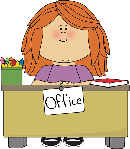 girl office assistant clip art