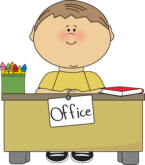 office assistant subsitute clip
