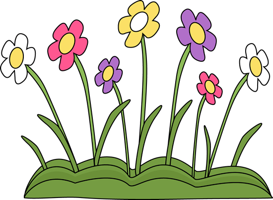 spring flower patch clip art