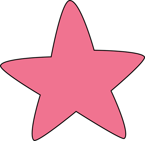 pink rounded star clip art