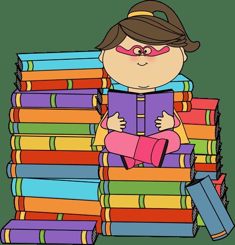 Fall Schoolhouse Wallpaper Superhero Girl Bookworm Clip Art Superhero Girl Bookworm