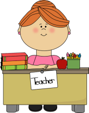 teacher with red hair clip art