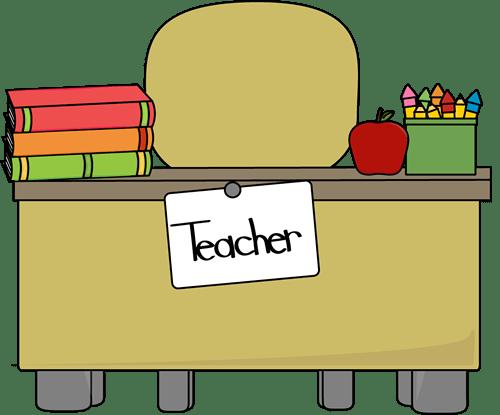 teacher's desk clip art
