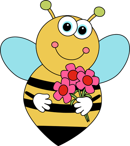 bee and flower clipart