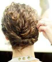 unique curly braided updos