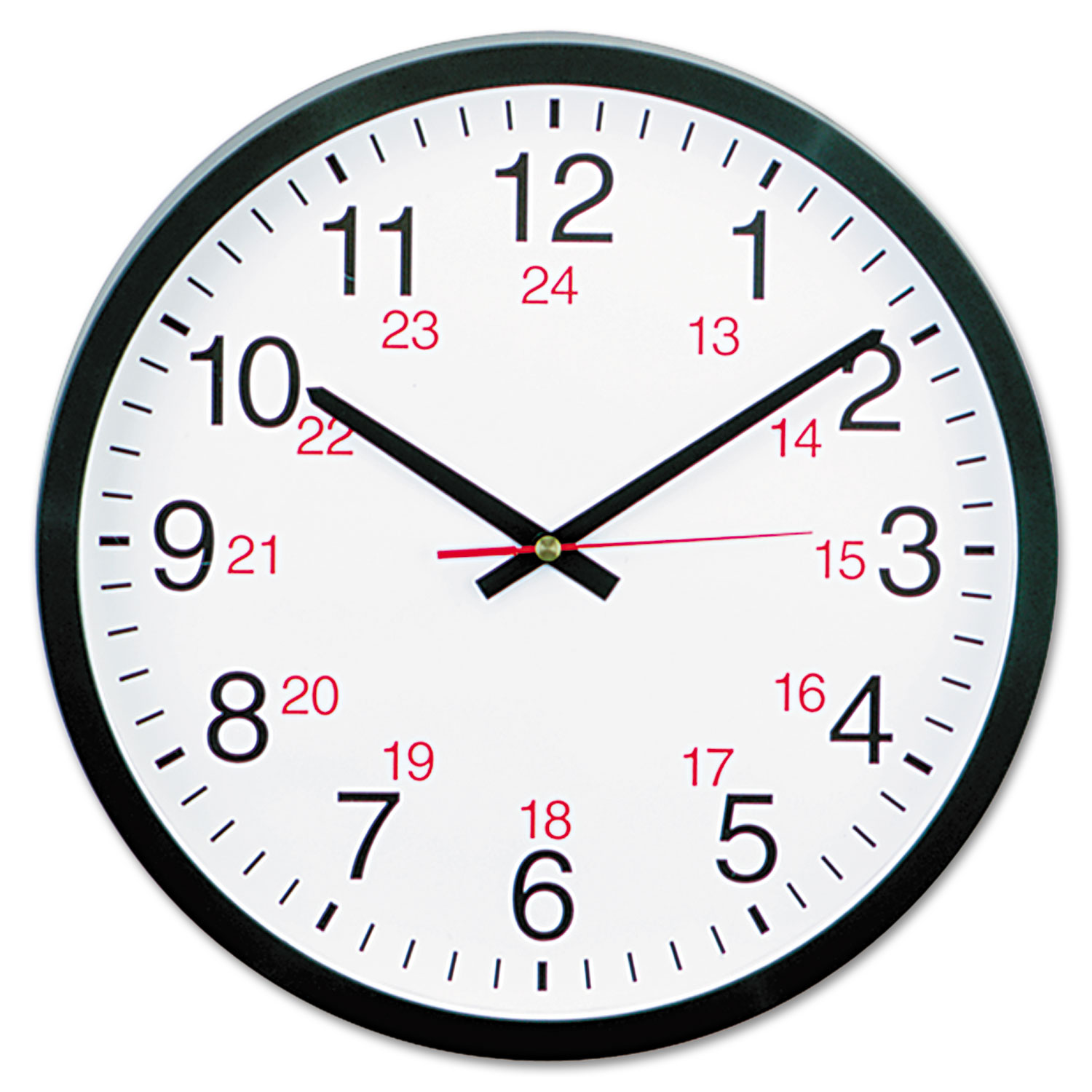 24 Hour Round Wall Clock By Universal Unv