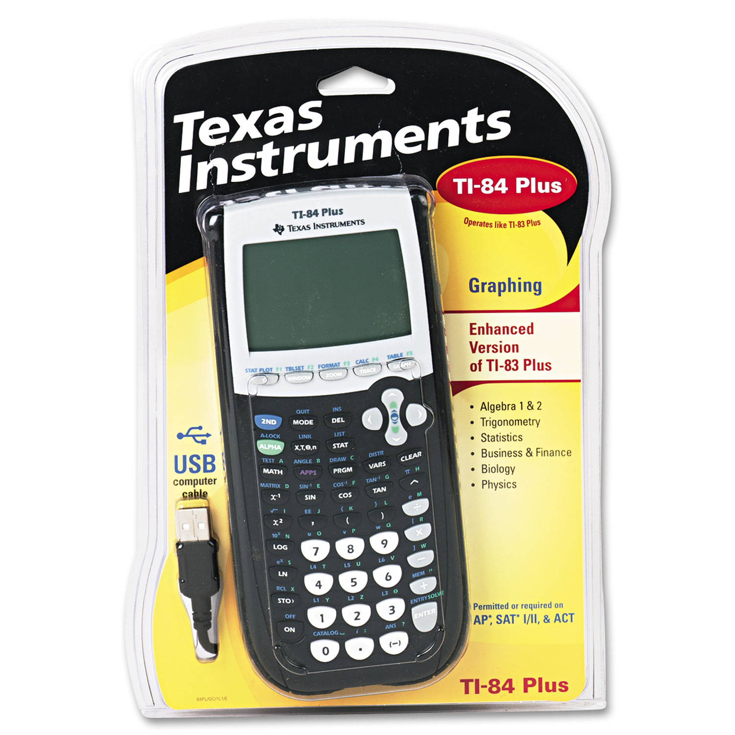 Ti 84plus Programmable Graphing Calculator By Texas