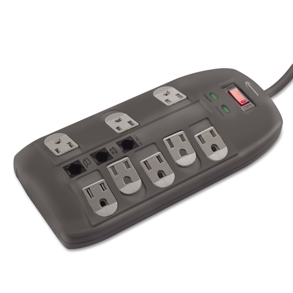 medium resolution of surge protector 8 outlets 6 ft cord 2160 joules black technology essentials innovera